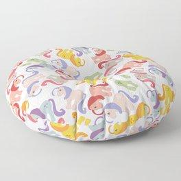 ponies invasion Floor Pillow