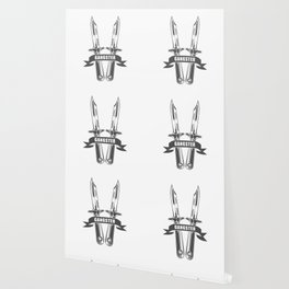 Gangster Rap, Hip Hop and Rock style and more in design fashion modern monochrome style illustration Wallpaper