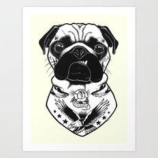 Dog - Tattooed Pug Art Print