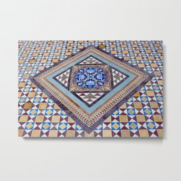 Beautiful, Traditional, Indian Tile Work in Hyderabad, India Metal Print