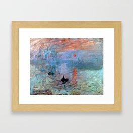 Iconic Claude Monet Impression, Sunrise Framed Art Print