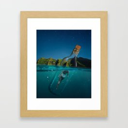 Life is a message in a bottle Framed Art Print