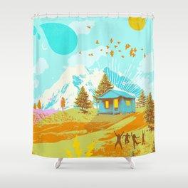 BETTER LAND Shower Curtain