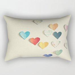 Paper Hearts Rectangular Pillow