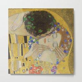 The Kiss - Closeup - Gustav Klimt Metal Print
