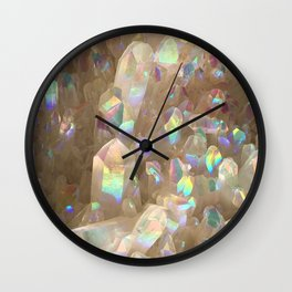 Unicorn Horn Aura Crystals Wall Clock
