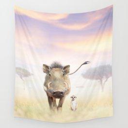 Warthog & Meerkat Wall Tapestry