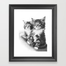 Double Dose of Cuteness Framed Art Print