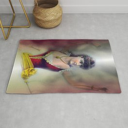 halflady illusion Rug