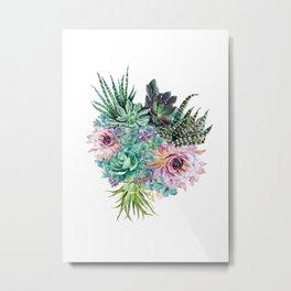 Succulent Bouquet Metal Print