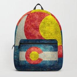Colorado State Flag in Vintage Grunge Backpack