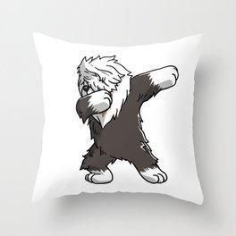 Funny Dabbing Old English Sheepdog Dog Dab Dance Throw Pillow