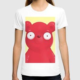 scared face bear T-shirt