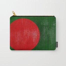 Bangladesh Distressed Halftone Denim Flag Carry-All Pouch