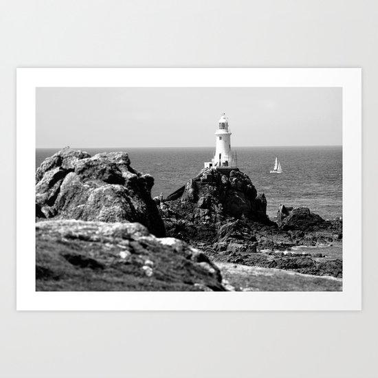 La Corbiere Lighthouse, Jersey. Art Print