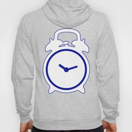 Electric Blue Mornings - with white alarm clock Hoody