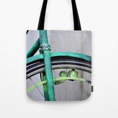 Green bike Tote Bag