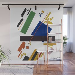 Geometric Abstract Malevic #14 Wall Mural