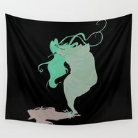 fat Wall Tapestries featuring fat(fi)ness #1 by antoniopiedade