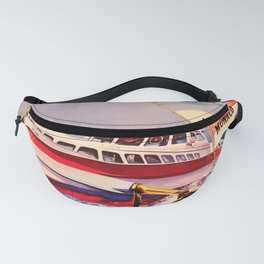 retro iconic Poissons Volants poster Fanny Pack