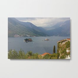 Panoramic View Of Kotor Bay With The Monastery Metal Print