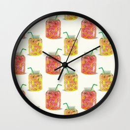Smoothie glass jar pattern Wall Clock