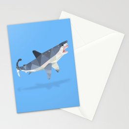 Low Poly Great White Shark Stationery Cards