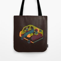 brown Tote Bags featuring Brown by Marce Farce