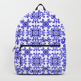 Classic European Blue Tiles Backpack
