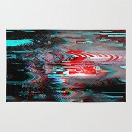 Glitch background. Computer screen error. Rug