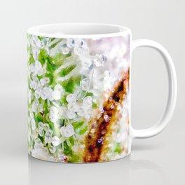 Skywalker OG Kush Strain Frosty Buds Calyxes Close Up Coffee Mug