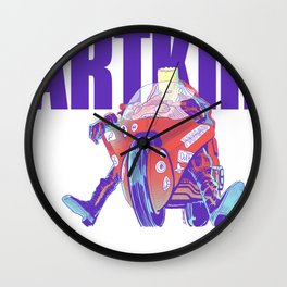Red Motorcylce Rider Wall Clock