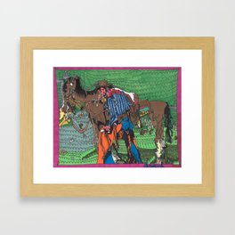 One of a Kind Cowboy Framed Art Print