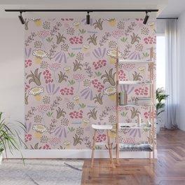 Pink Flourishing Land/ flower pattern/ baby prints Wall Mural