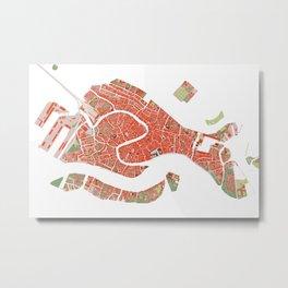 Venice city map classic Metal Print