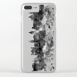 Valletta skyline in watercolor on white background Clear iPhone Case