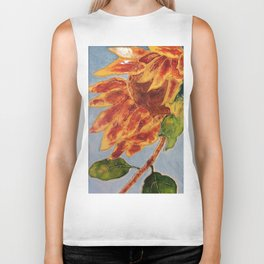Turns to the wind sunflower | Tourne-au-vent Biker Tank