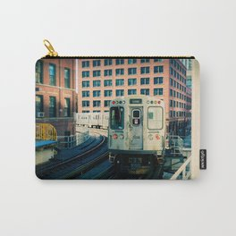 Chicago Train El Train Leaving Station L Train The Loop Urban Windy City Commute Carry-All Pouch
