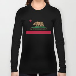 California flag, High Quality Authentic Long Sleeve T-shirt