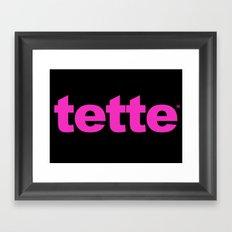 TETTE Framed Art Print