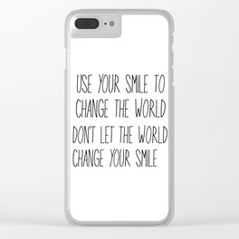 Change the World Clear iPhone Case