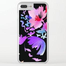 Dark Flora Clear iPhone Case