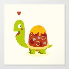 Pizza turtle Canvas Print