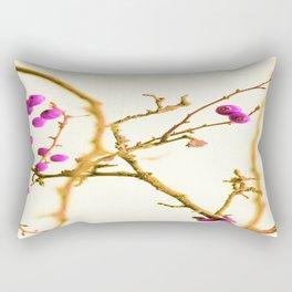 Soft pink berrys Rectangular Pillow