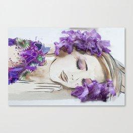 floral bugambilia woman Canvas Print