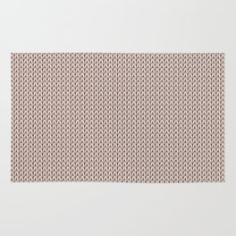 Knitted spring colors - Pantone Pale Dogwood Rug