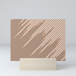 Sand Storm Beige Creamy Off White Mid-tone Brown 2021 Color of The Year Canyon Dusk Accent Shades Mini Art Print