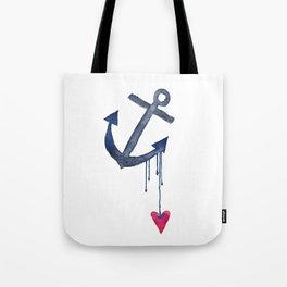 Anchored Heart Tote Bag