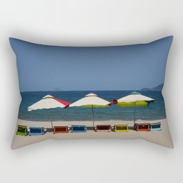 Beach Umbrellas in Nha Trang Rectangular Pillow