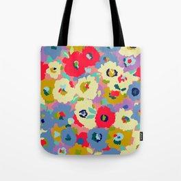 Bright camo flowers Tote Bag